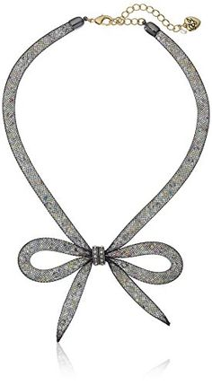 "Betsey Johnson ""Memoirs of Betsey"" Mesh Bow Necklace, 16"" + 3"" Extender Betsey Johnson http://www.amazon.com/dp/B019F2Q3GS/ref=cm_sw_r_pi_dp_PXVexb0PAS5ZH"