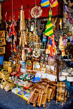 Traditional mexican handmade toys stand in a market at Guadalajara, Jalisco, México. (The market is called San Juan De Dios) Mexican Folk Art, Mexican Style, Central America, South America, Monuments, Mexican Heritage, Mexico Culture, Visit Mexico, Puerto Vallarta
