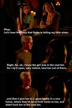 Spike didn't simply fall in love with Buffy; Spike loved Dawn and Joyce as family as well ...