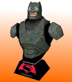 Occupying 27 sheets of paper and measuring 49 cms in height , this Batman Bust paper model , as it appears in the movie Batman Vs. Superma...