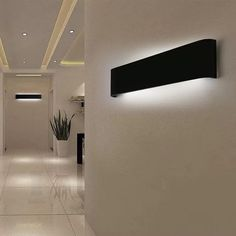 Black/White LED Sconce Indoor Wall Lamps Brief Bedroom Decoration Lighting Fixtures Wall