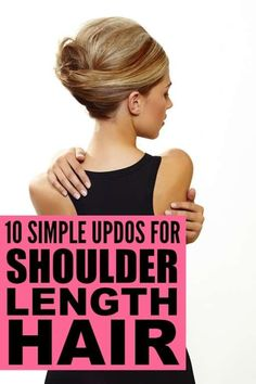 If you have shoulder length hair and want to find simple and easy wedding hairstyles or prom hair ideas, or you just want some inspiration to help you look more trendy on the days you can't be bothered to wash and blow dry your locks, this collection of simple updos for shoulder length hair is for you!