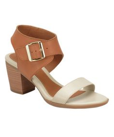 Love this Light Brown Maitland Leather Sandal on #zulily! #zulilyfinds