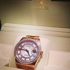 #RoseGold #Diamond #Love #Luxury #Unworn #DayDate #DiamondCarrousel #Wristwatch #BondStreet #London #WatchCentre