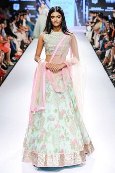 A model walks the ramp for designer Anushree Reddy on Day 5 of the Lakme Fashion Week (LFW) Summer Resort 2015, held in Mumbai. (BCCL/Tejas Kudtarkar) See more of : LFW '15: Day 5: Anushree Reddy