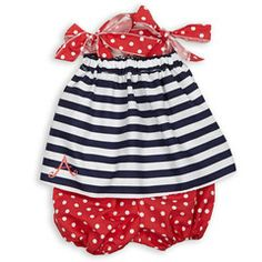 We Love this Baby Girl Navy Stripe Red Dot Tie Bloomer Set! Shop this Item NOW Before Styles and Sizes Run Out!  http://www.lollywollydoodle.com/collections/flags/products/baby-girl-navy-stripe-red-dot-tie-bloomer-set?utm_source=Pinterest