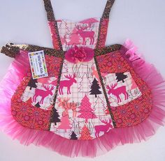 Pink Moose Love Apron