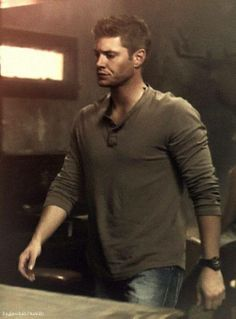 Dean Winchester in a Henley