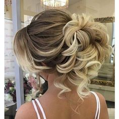 45 Most Romantic Wedding Hairstyles For Long Hair ❤ liked on Polyvore featuring beauty products, haircare, hair styling tools and curly hair care