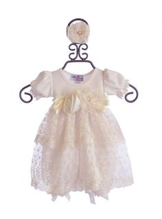 24cebbd6f3d0 Katie Rose Designer Baby Bloomer Dress in Ivory Hollee  92.00 Unique Baby  Girl Clothes