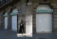 The Military Uprising in Barcelona - Carrer de la Diputació y Carrer Roger de Llúria, Barcelona (interesting concept of placing a colourised image over a 'Now and Then' photo montage . World War Ii, Real Life, Spanish, History, Photo Montage, Image, Military, Concept, Photography