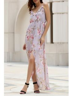 SHARE & Get it FREE | High Slit Spaghetti Straps Double-Layered Maxi Dress - PinkFor Fashion Lovers only:80,000+ Items • New Arrivals Daily Join Zaful: Get YOUR $50 NOW!