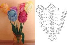 e1-1 Crochet Egg Cozy, Easter Crochet, Cute Crochet, Crochet Crafts, Crochet Toys, Crochet Projects, Diy Flowers, Crochet Flowers, Fabric Flowers