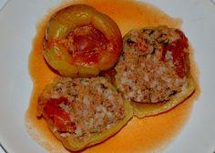 ETLİ BİBER DOLMASI (faszerowana papryki) http://tureckieprzepisy.blogspot.com/2012/11/etli-biber-dolmasi-faszerowana-papryki.html