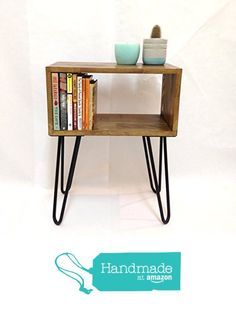 Hairpin Leg Table / Mid-Century Modern Nightstand / Bedside Table from Vintage House Coruna http://www.amazon.com/dp/B017LRSLLE/ref=hnd_sw_r_pi_dp_isEKwb02C3YMG #handmadeatamazon