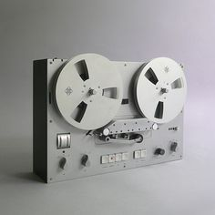 Braun TG 60 tape recorder designed by Dieter Rams in 1965. Was very much the ipod of its day.