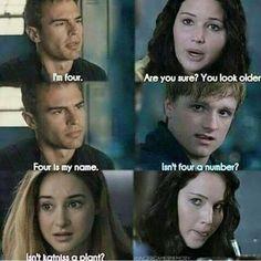 Divergent or Hunger games? I love divergent but hunger games is my favorite series ever! Hunger Games Memes, The Hunger Games, Hunger Games Fandom, Hunger Games Costume, Divergent Memes, Divergent Hunger Games, Divergent Fandom, Hunger Games Trilogy, Divergent Factions
