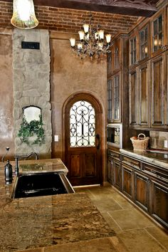 love the kitchen and the cabinets. And the door