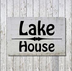Lake House   DIY Plaque  Sign  Vinyl Decal  Decals by WrenGifts