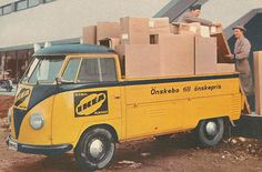 Look at this amazing IKEA VW from the 50's! From ohsolovelyvintage.