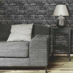 Grey brick wallpaper from Next Shades of Grey Pinterest Grey