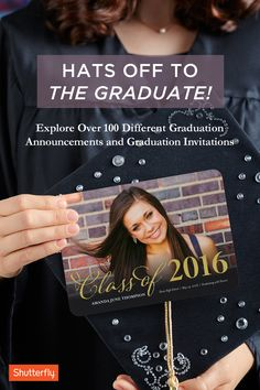 Celebrate major milestones with unique and personalized graduation announcements and invitations from Shutterfly. Take advantage of Shutterfly's customizable cards and try out trims, colors and other enhancements to transform each announcement into a one of kind product.
