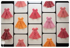 scrap fabric project - fabric origami dress tutorial