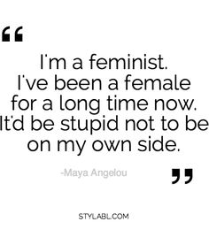 "Maya Angelou on ""Feminism"""