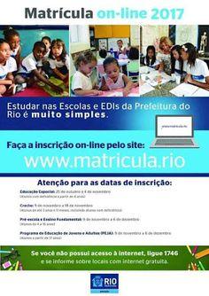 Jornalista Denise Machado: Matrículas na rede municipal do Rio de Janeiro par...