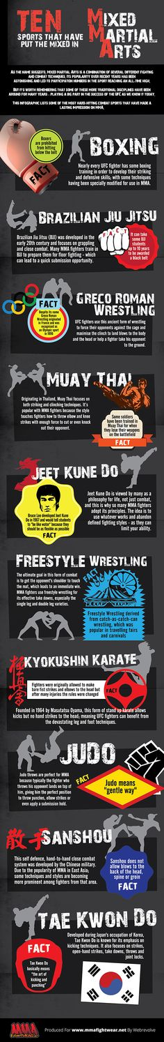 Martial arts infographic. This is very useful.