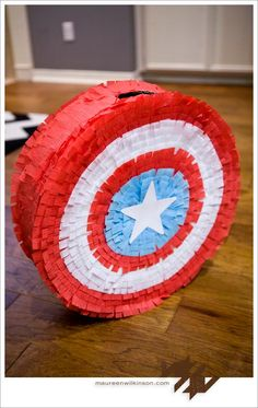 DIY Pinata: DIY Captain America Shield Pinata: DIY Birthday Crafts