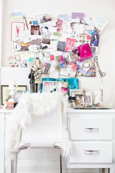 Pin board above dressing table- Gracefully Searching