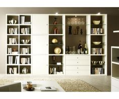 #bibliotheque blanche à prix discount chez Meuble-et-canape.com #meuble Painted Paneling, Home, White Paints, Bookcase, Shelves, Fittings, Shelving, Room, White