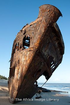 Shipwreck we visited on the beach in Beira, Mozambique.= when the tide is coming in its one of the BEST places for pics! Maputo, Places Around The World, Oh The Places You'll Go, Places To Visit, Abandoned Places, Abandoned Castles, Abandoned Mansions, Out Of Africa, Shipwreck