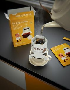 Dr. Drip Coffee / Lab10 #package #design #packaging #coffee