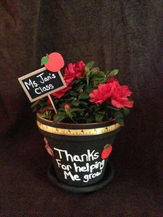 DIY Thank You Flower Pot for Mother's or Teachers #thankyou #crafts