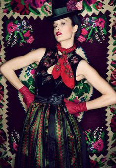 That scarf   Sportalm Kitzbühel, f/w 2011/12 bright ethnic boho florals and jaunty layering,frida kahlo mexican style with added character and drama just like the woman herself sticking her chin out at the world and not caring who looked at her