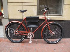 #Retrovelo Paul Alfine 8 en color Oxide Red. Con Frame Bag en negro #avantumbikes