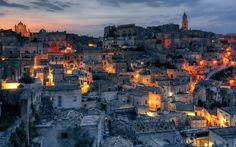 Lataa kuva Matera, Basilicata, kaupungin rock, vanha kaupunki, UNESCON, Italia