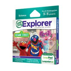 LeapFrog Explorer Sesame Street Solve it with Elmo, Abby and Super Grover 2.0 Learning Game  List Price: $24.99 Discount: $9.80 Sale Price: $15.19