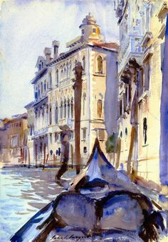 John Singer Sargent: The Grand Canal, Venice, ca. 1909-11