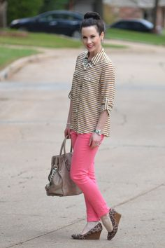 Love the stripes and leopard!