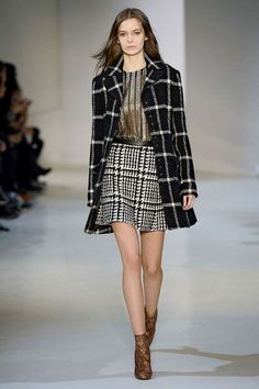 Windowpane is going to have a major moment in a season filled with buffalo plaids and tweedy tartans. The wide windowpane checks in smart black and white feel more sophisticated than the rest and have thusly been placed on everything from trench coats to evening gowns while still looking right at home on slouchy cool-girl separates.