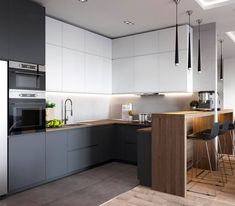 If you are looking for Minimalist Kitchen Design Ideas, You come to the right place. Below are the Minimalist Kitchen Design Ideas. Kitchen Room Design, Kitchen Cabinet Design, Modern Kitchen Design, Kitchen Layout, Home Decor Kitchen, Kitchen Living, Interior Design Kitchen, Home Kitchens, Kitchen Ideas