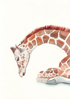 Cute giraffe drawing. Some people are so talented @ art!