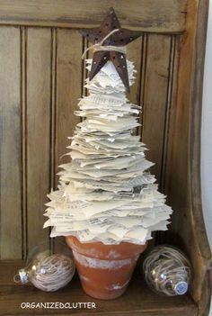 DIY: Book Page Christmas Tree Tutorial.