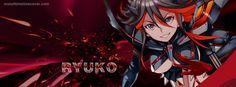 Kill La Kill Ryuko with Red Black Suite Facebook Cover InstallTimelineCover.com
