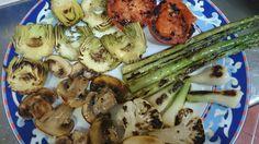 Parrillada de verdura. Cocina sana y equilibrada.