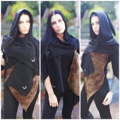 This item is unavailable Pagan Fashion, Mori Fashion, Triple Goddess, Moon Goddess, Witchy Clothing, Autumn Witch, Gothic Jackets, Woodland Elf, Gothic Coat