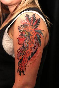 girl with animal headdress